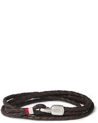 Bracelet en cuir marron foncé