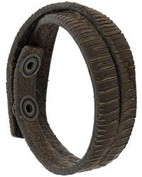 Bracelet en cuir marron foncé Diesel