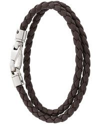Bracelet en cuir marron foncé Tod's