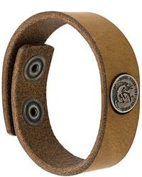 Bracelet en cuir marron Diesel