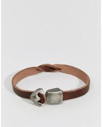 Bracelet en cuir marron Jack and Jones