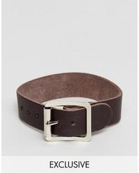 Bracelet en cuir marron Reclaimed Vintage