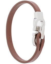 Bracelet en cuir marron Salvatore Ferragamo