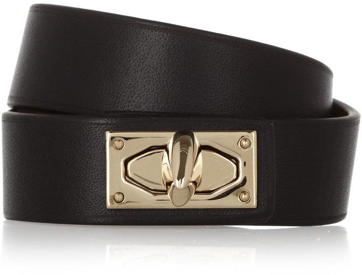 Bracelet en cuir noir et doré Givenchy