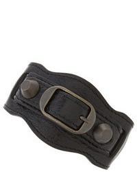 Bracelet en cuir noir