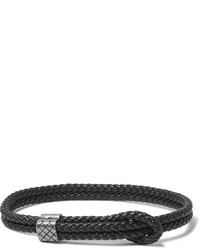 Bracelet en cuir noir Bottega Veneta