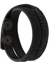 Bracelet en cuir noir Diesel