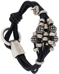 Bracelet en cuir noir Eleventy