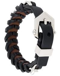 Bracelet en cuir noir Givenchy