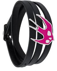 Bracelet en cuir noir MCQ