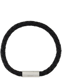 Bracelet en cuir noir Paul Smith