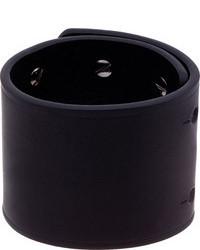 Bracelet en cuir noir Rick Owens