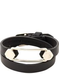 Bracelet en cuir noir Tod's