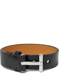 Bracelet en cuir noir Tom Ford