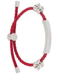 Bracelet en cuir rouge Alexander McQueen