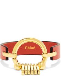 Bracelet en cuir rouge Chloé