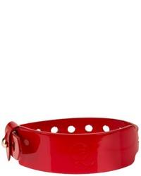 Bracelet en cuir rouge McQ by Alexander McQueen