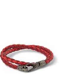 Bracelet en cuir rouge Tod's