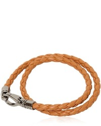 Bracelet en cuir tabac