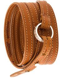 Bracelet en cuir tabac Maison Margiela