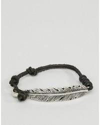 Bracelet en daim noir