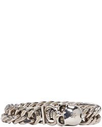 Bracelet gris Alexander McQueen