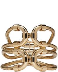 Bracelet imprimé serpent doré Lanvin