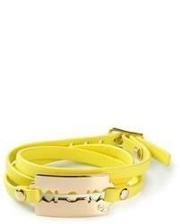 Bracelet jaune McQ by Alexander McQueen
