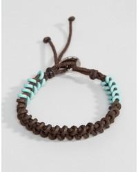 Bracelet marron foncé Icon Brand