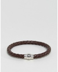 Bracelet marron foncé Jack and Jones