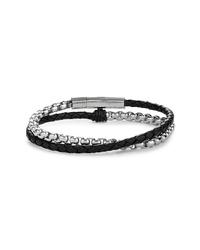Bracelet noir et argenté