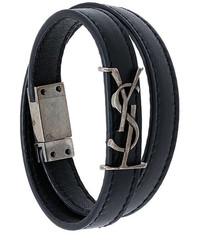 Bracelet noir Saint Laurent