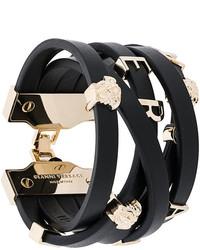 Bracelet noir Versace