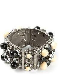 Bracelet orné argenté