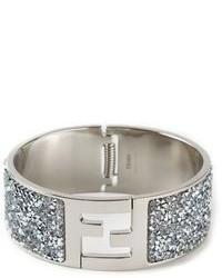 Bracelet orné argenté Fendi