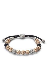 Bracelet orné de perles argenté