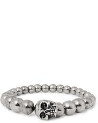 Bracelet orné de perles argenté Alexander McQueen