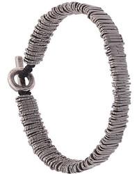 Bracelet orné de perles argenté M. Cohen