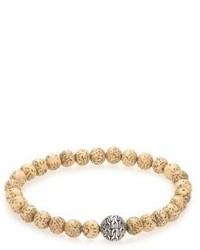 Bracelet orné de perles beige