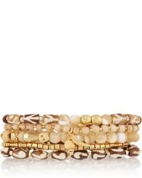 Bracelet orné de perles beige Chan Luu
