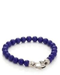 Bracelet orné de perles bleu marine