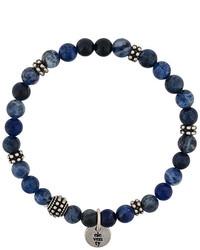 Bracelet orné de perles bleu marine Eleventy