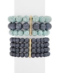 Bracelet orné de perles bleu