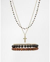 Bracelet orné de perles doré