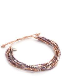 Bracelet orné de perles doré Chan Luu