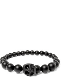 Bracelet orné de perles gris foncé