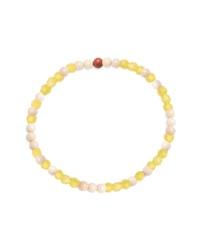 Bracelet orné de perles jaune