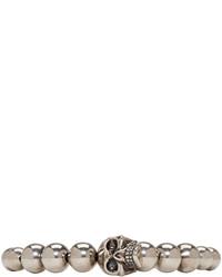 Bracelet orné de perles marron clair