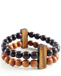 Bracelet orné de perles marron foncé
