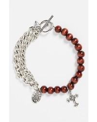 Bracelet orné de perles marron